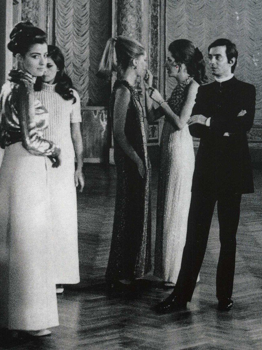 1961 - Pino Lancetti's first fashion show at Palazzo Pitti